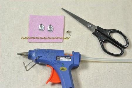 Supplies in Making the Drop Rhinestone Earrings: