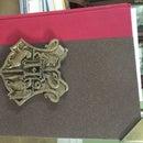 Book W/ Hogwarts Coat of Arms and Corner Protectors