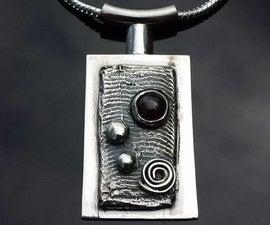 Cuttlefish Cast W/ Almandine Garnet Pendant