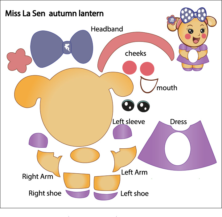 Picture of Download This Pattern for Miss La Sen Shape and Print It Out in A3 Size Paper.