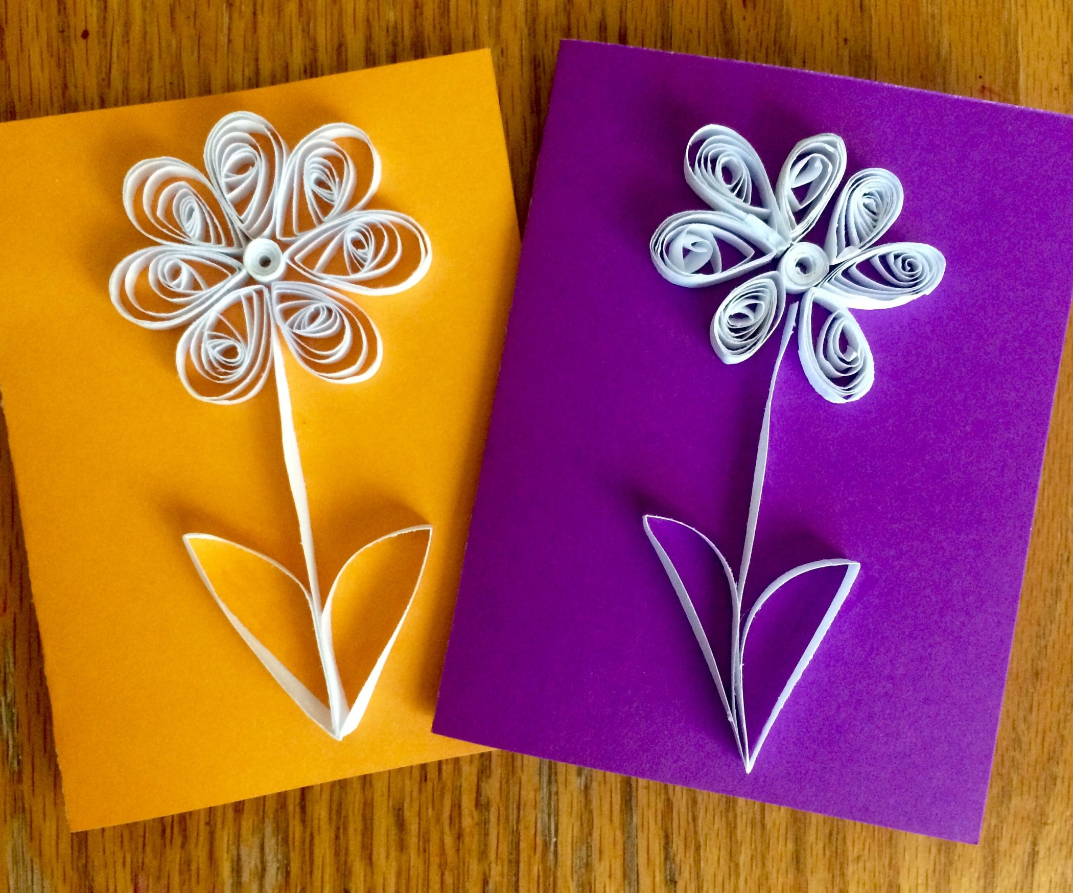 quilling with kids simple quilled flower card  5 steps