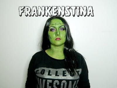 FRANKENSTINA Halloween Makeup Tutorial