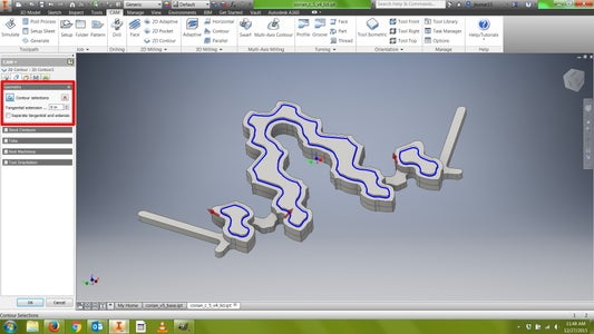 CAM: Toolpath (Contour 1)