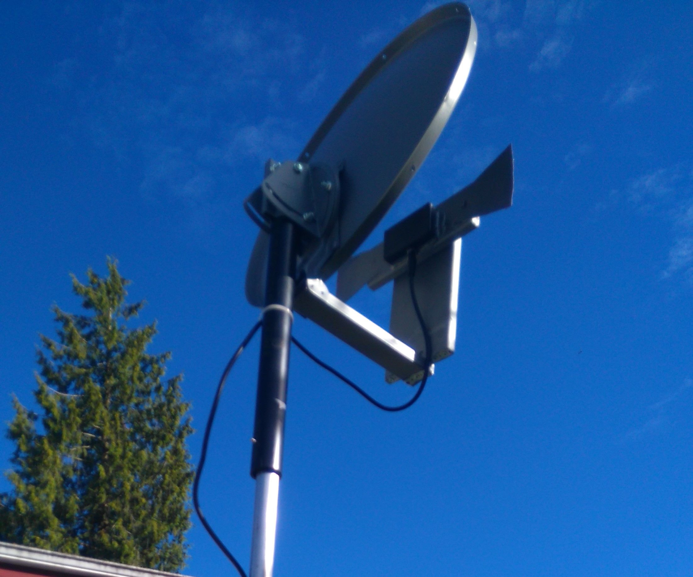 Make a High Performance TV Antenna From a Satellite Dish and