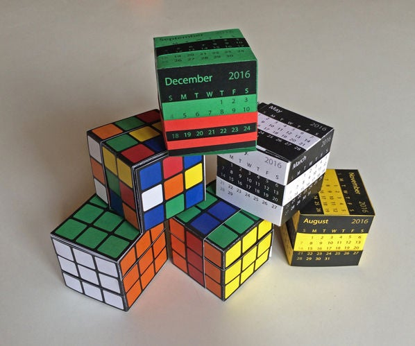 The Amazing Paper Puzzle Box: Rubik's Cube or Calendar