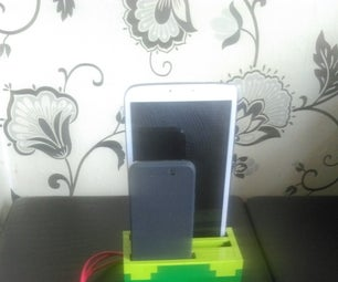 Lego multi device charge dock, phone tablet