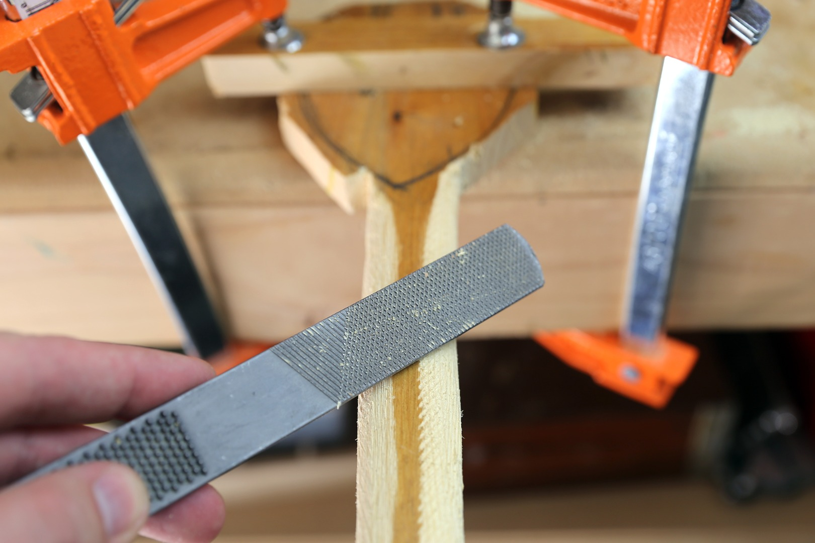 Picture of Rough Shaping With Rasp - Flat Side