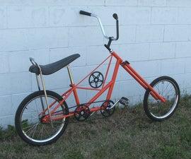 Atomic Zombie's ChopWork Orange chopper bicycle
