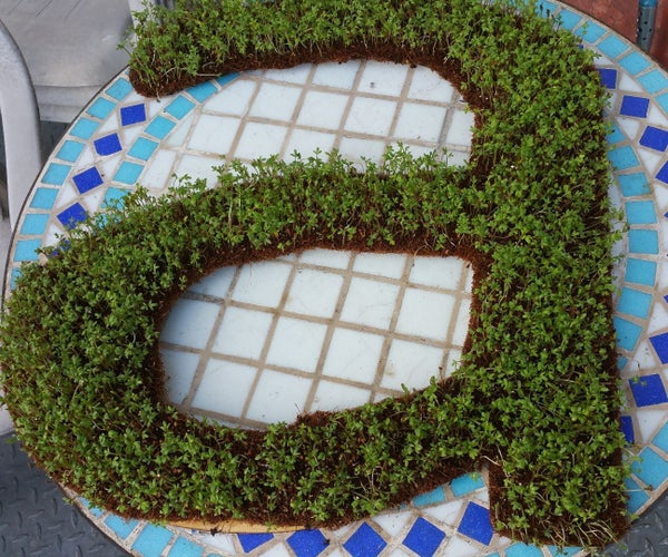 Green Growing Letters