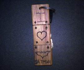 """ I Love Batman "" Key Chain"