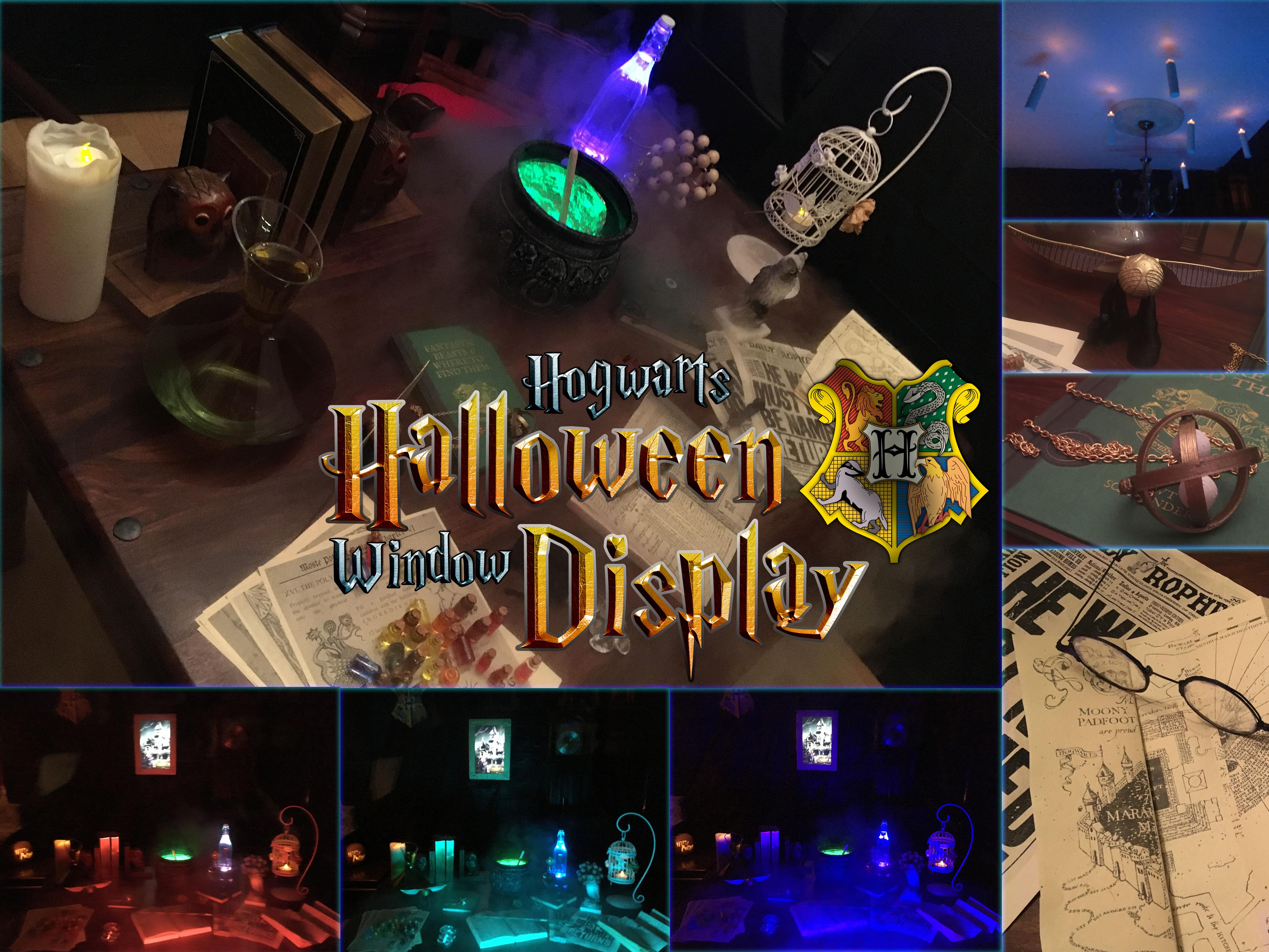 Picture of Hogwarts Halloween Window Display