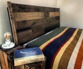 Upcycled Reclaimed Wood Headboard