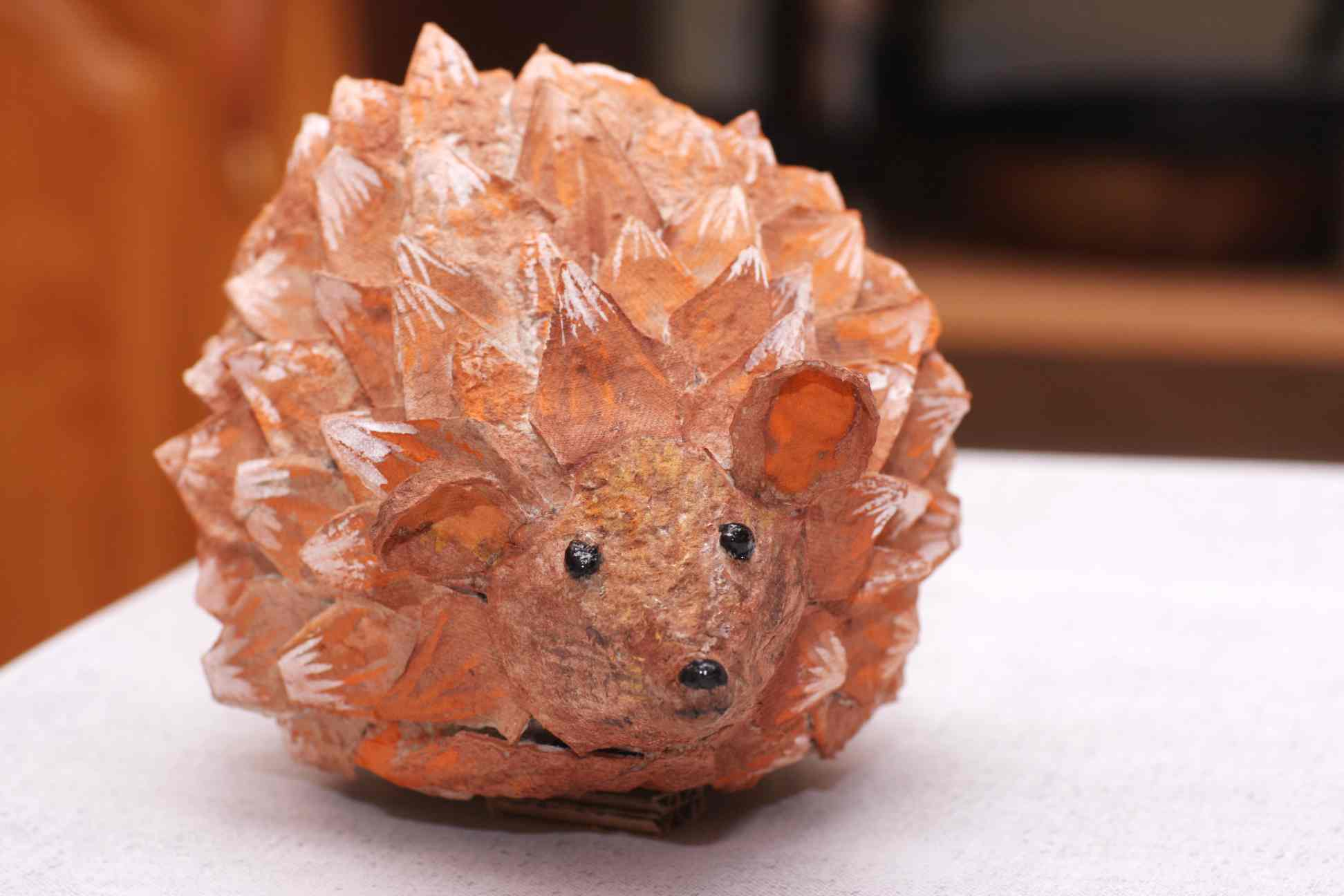 Picture of A Hedgehog Made of an Egg Box