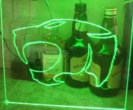 how to etch into plexi glass