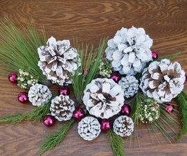 A Snowy, Glittery Pine Cone DIY in 3 Easy Steps
