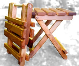 Collapsible Folding Adirondack Table