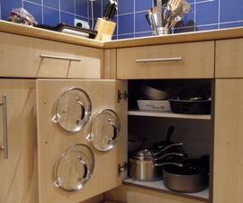 Easiest Cupboard Pan Lid Organiser