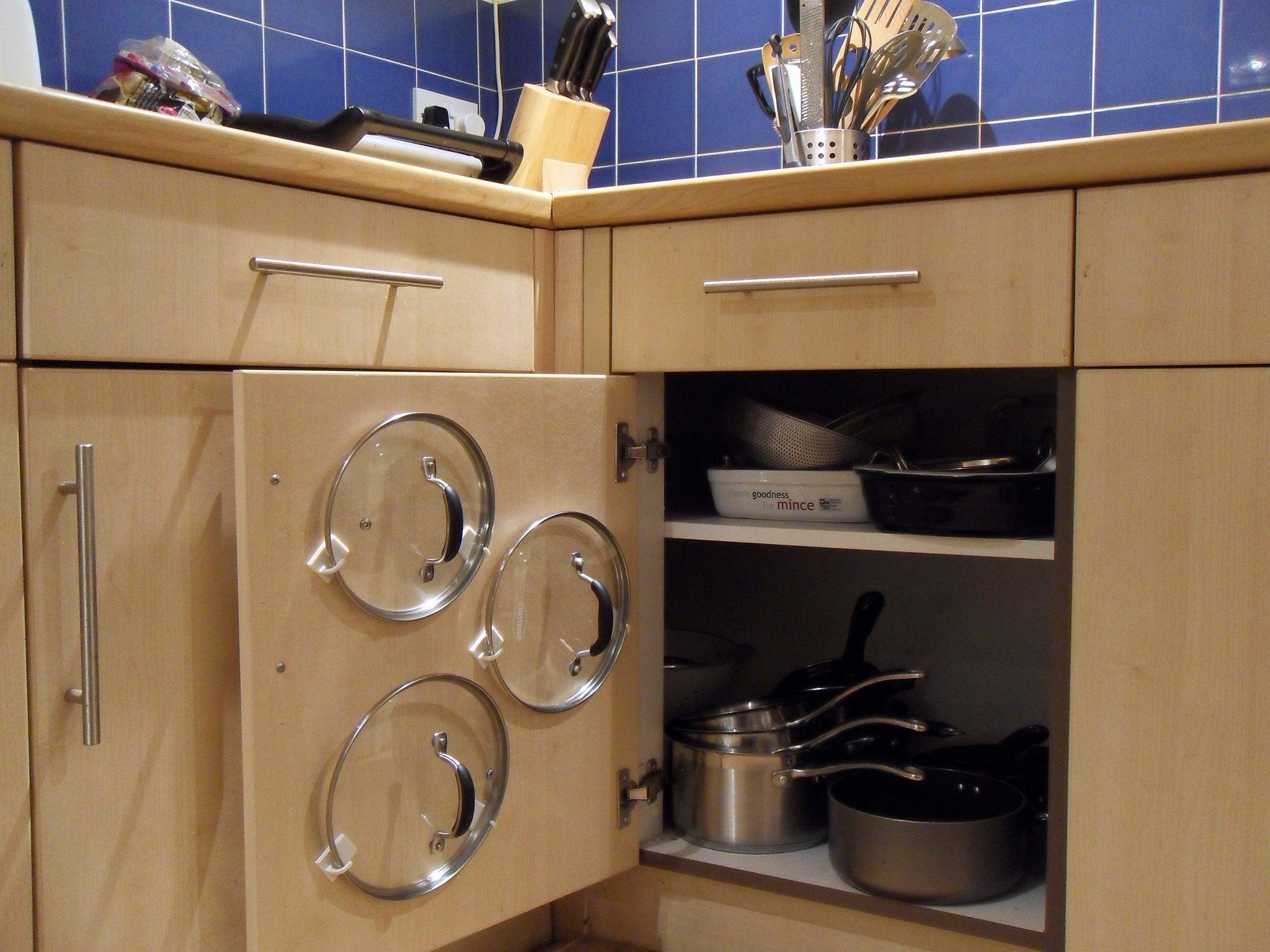 Easiest Cupboard Pan Lid Organiser