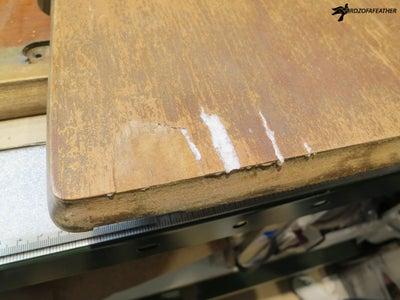 Fill Missing Veneer With Wood Filler - Prep