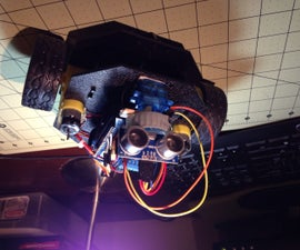 Simple Object avoider robot the using Actobotics Runt Rover Peewee chassis and a Arduino
