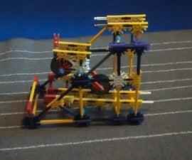 Spin 'n' kick!   A K'nex Ball Machine Element