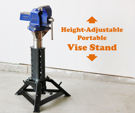 Height-Adjustable Portable Vise Stand