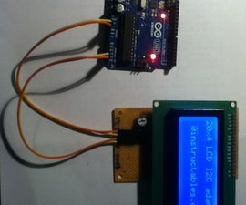 LCD display I2C adapter for Arduino with PCF8574A