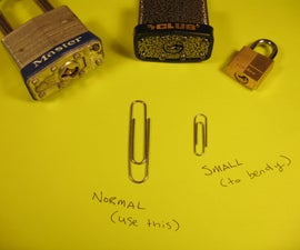 Open a Padlock with One Paperclip, Nothing Else