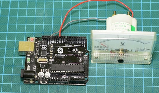 How to Control the Voltmeter With Arduino