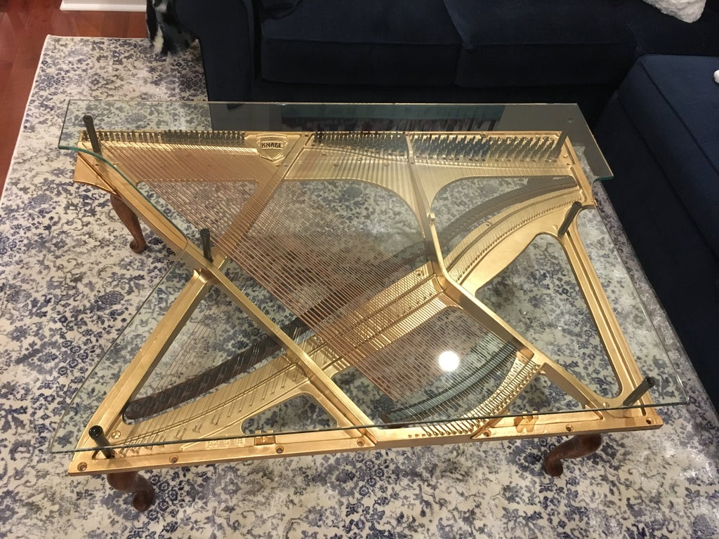 Material Coffee Table.Piano Harp Coffee Table 7 Steps With Pictures