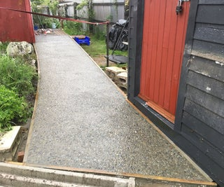 Making an Exposed Aggregate Concrete Path