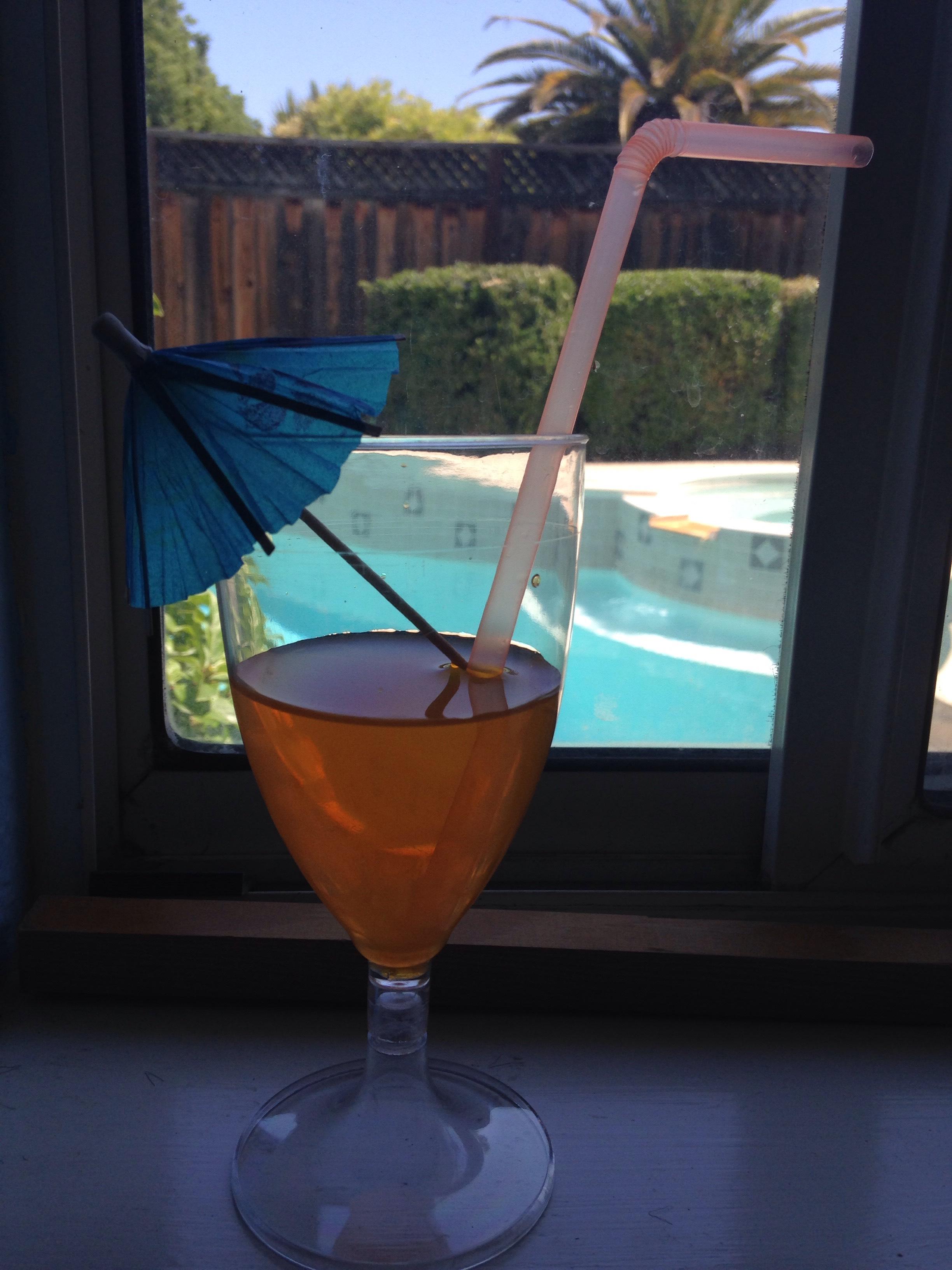 Picture of Straw and Mini Umbrella