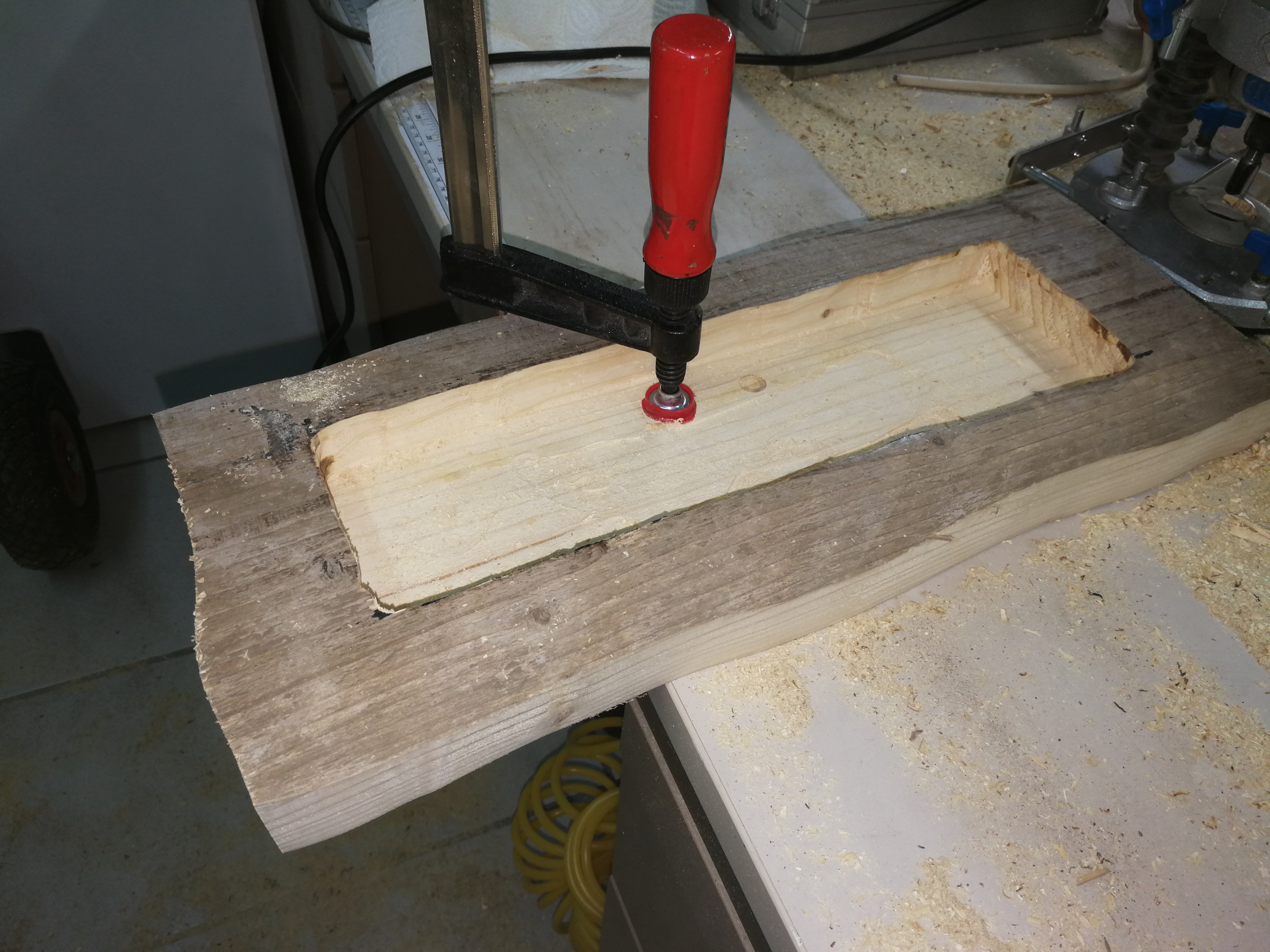 Picture of Routing the Hidden Cabinet