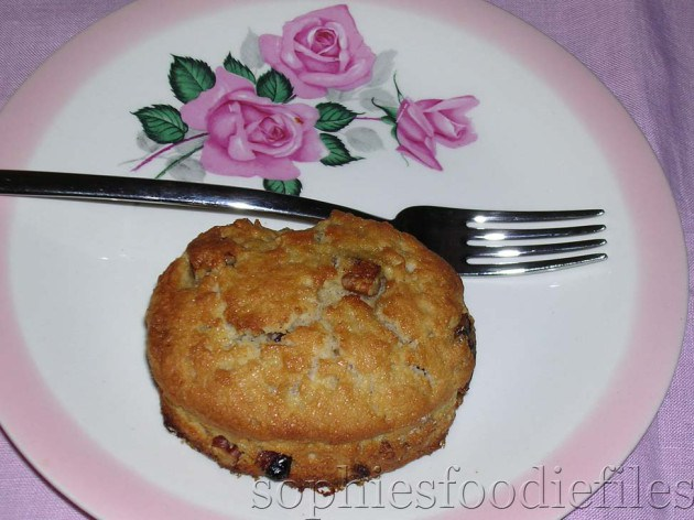 Picture of Vegan Maple Scones With Pecans & Cranberries Served With Maple Butter!
