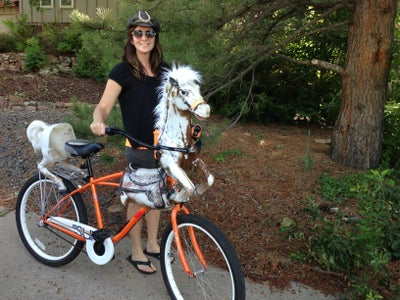 Light the Eyes, Zip the Pony to the Bike and RIDE!
