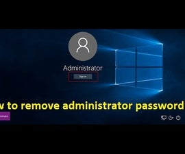 How to remove administrator password in windows 10