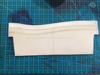 Sew Second Card Slot on Card Slot Back Leather, Only Sew the Bottom Stitching Line Too.
