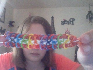 Slip a Rubber Band Through and Slide a C-clip on the Bracelet