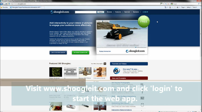Picture of Visit Shoogleit.com and Add Interactivity to the Images.