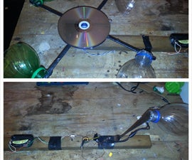 How to make a wind generated light bulb. (wind generator 2! wind powered light!)