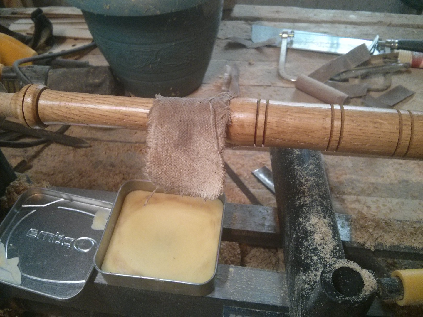 Picture of Turning the Handle - Tinners Mallet