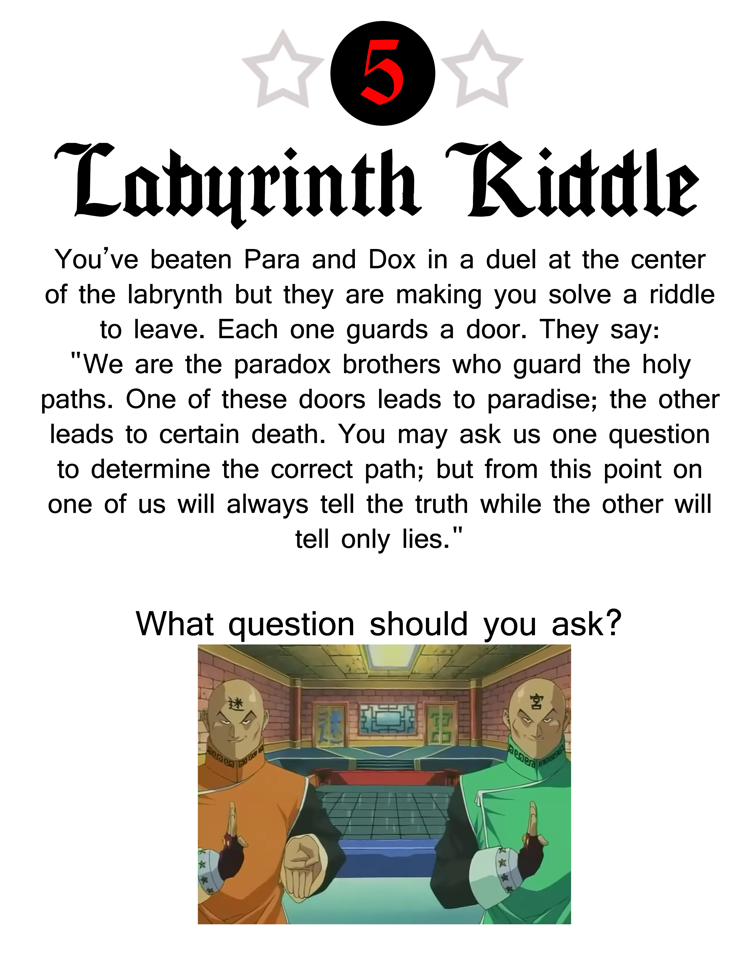 Picture of The Riddle of Para and Dox