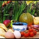 English Fruit and Veg Garden Harvest