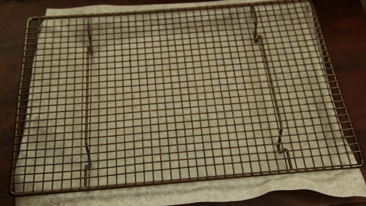 Picture of Take a Baking Tray, Line It With a Sheet of Baking Paper and Then Place a Cooling Rack on Top.