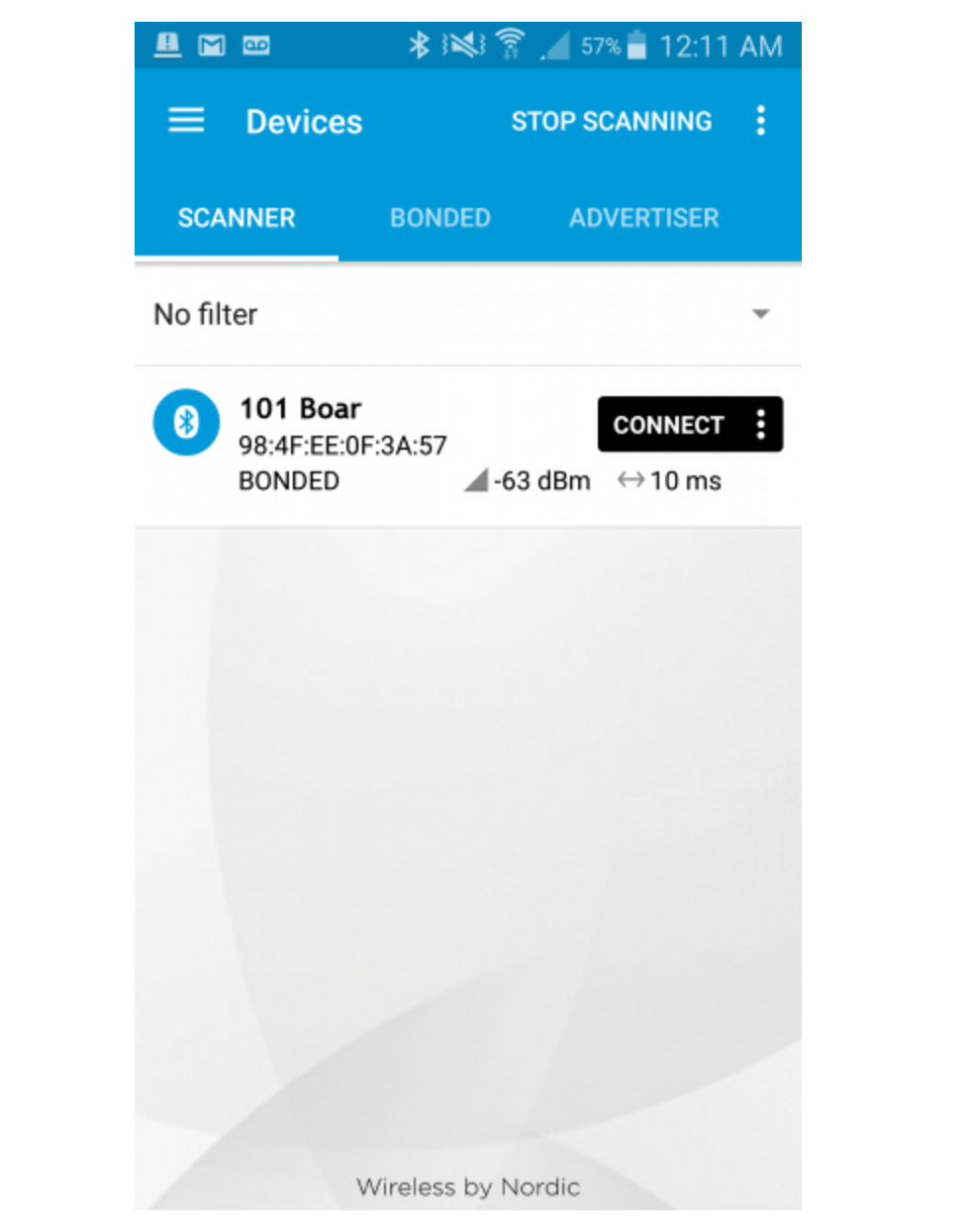Picture of Using the NRF Connect