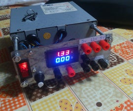 ATX Power Supply Recycled With Variable LM317