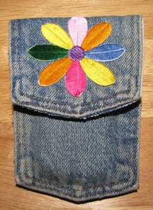Recycled Denim Cell Phone Pocket