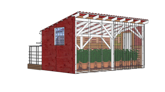 Optional: Enclose Walls to Make Greenhouse Nursery