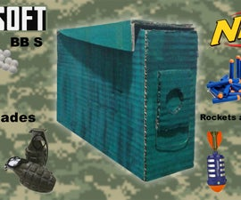 Cardboard Ammo Box (for Airsoft & Nerf)