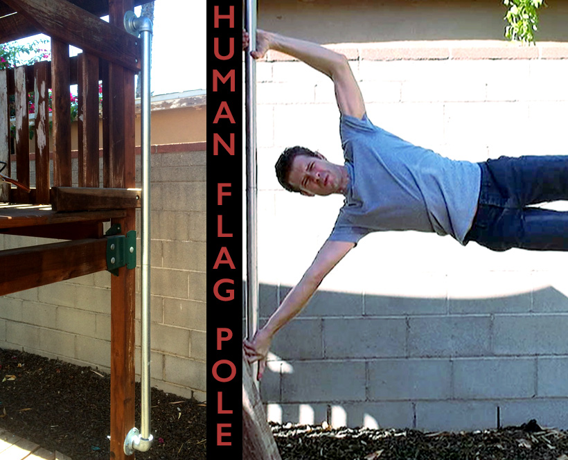 Picture of Human Flag Pole